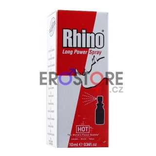 Sprej na oddálení ejakulace HOT Rhino Long Power Spray - 10 ml